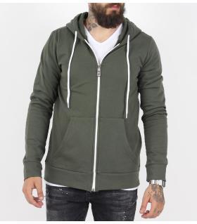 Ζακέτα φούτερ με τσέπες και κουκούλα KE7299