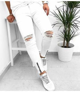Παντελόνι jean slash & zips K184