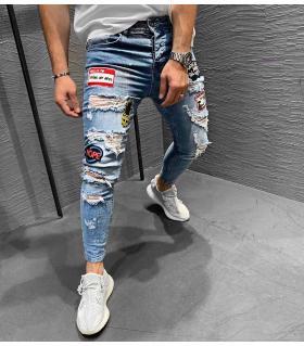 Παντελόνι jean ανδρικό stickers K198