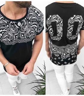 T-shirt ανδρικό back print - 00 - K2005