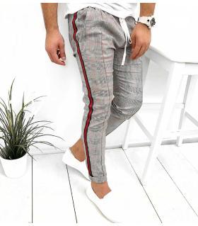 Παντελόνι ανδρικό καρό stripes K2016
