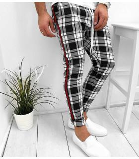 Παντελόνι ανδρικό καρό stripes K2018