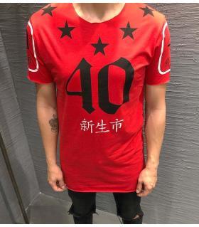 T-shirt ανδρικό ασύμμετρο K2174