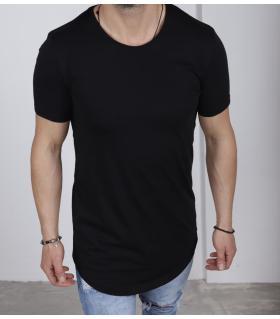 T-shirt ανδρικό long μονόχρωμο K2180