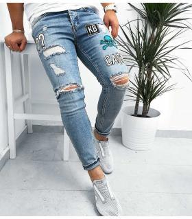 Παντελόνι jean ανδρικό stickers K235