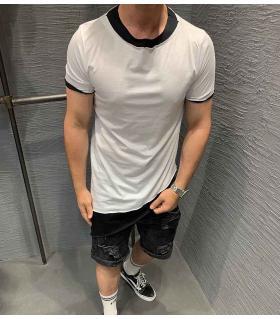 T-shirt ανδρικό ασύμμετρο double colour K2518