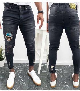 Παντελόνι jean ανδρικό stickers K262