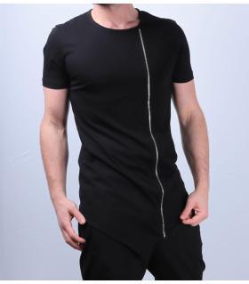 T-shirt ανδρικό zip ασύμμετρο K2626