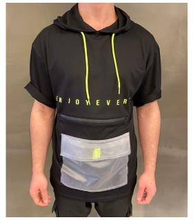 T-shirt ανδρικό pocket με κουκούλα K2663