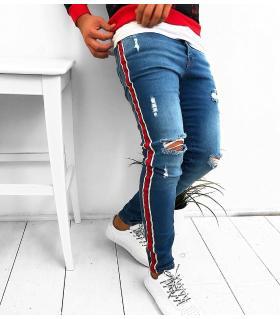 Παντελόνι jean ανδρικό stripes K280