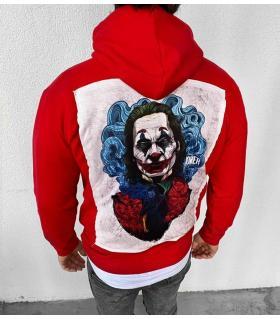 Μπλούζα φούτερ με κουκούλα -Joker- K2814