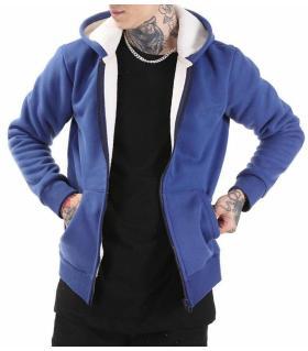Ζακέτα ανδρική φούτερ με κουκούλα K2817