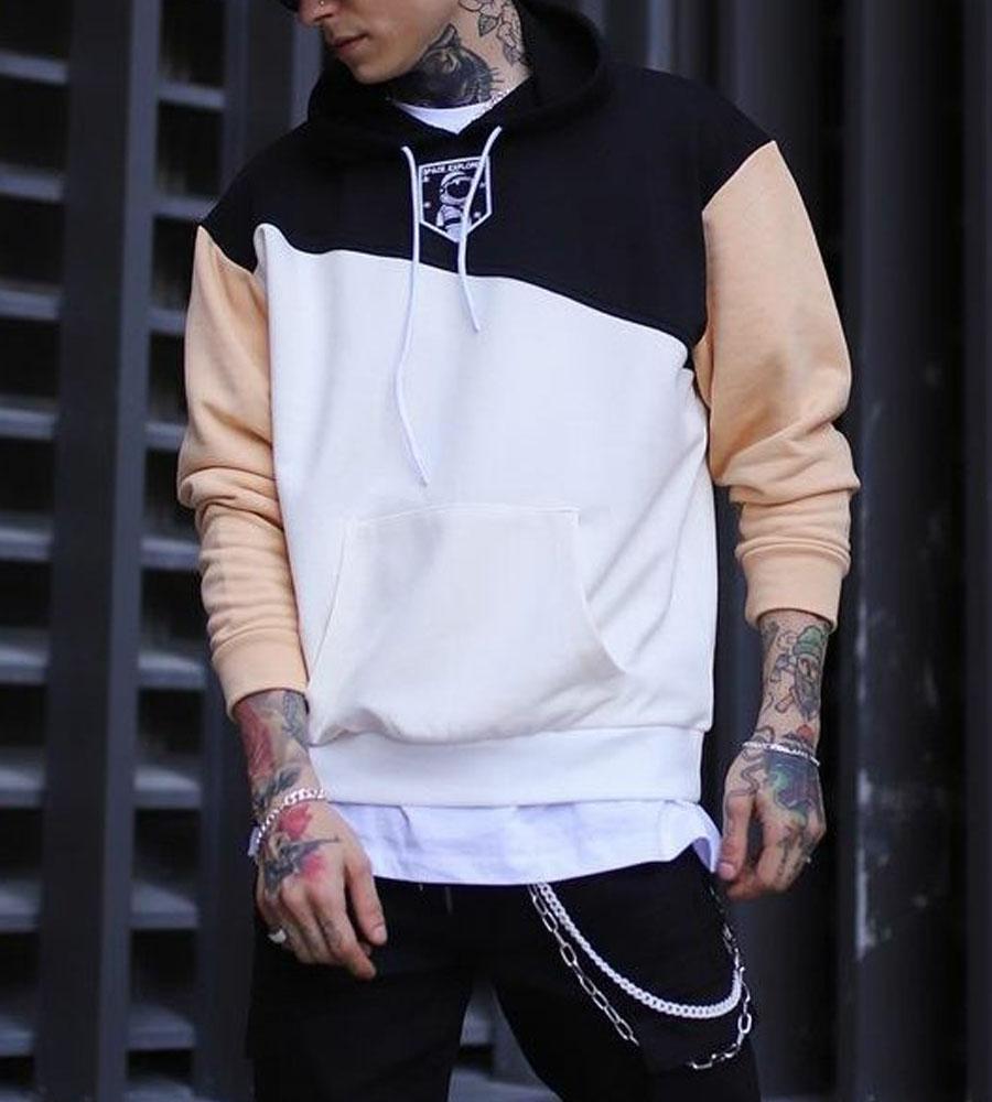 Μπλούζα φούτερ με κουκούλα -space- K2842