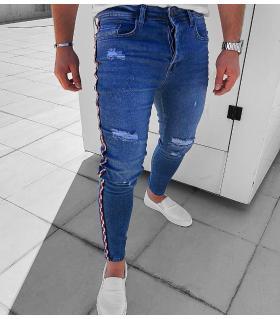 Παντελόνι jean ανδρικό stripes K285