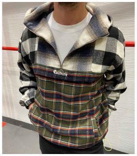 Μπλούζα φούτερ με κουκούλα -Culture- K2862