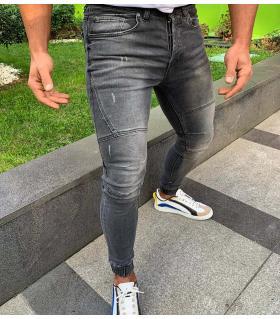 Παντελόνι jean ανδρικό λάστιχο K325