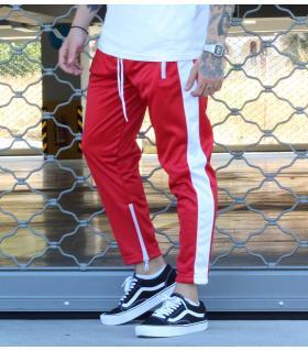 Παντελόνι φόρμα one stripe white-zip K3530