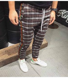 Παντελόνι φόρμας stripe καρό K3592