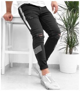Παντελόνι jean ανδρικό stripe K503