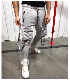 Παντελόνι φόρμα pockets με ιμάντες K7074