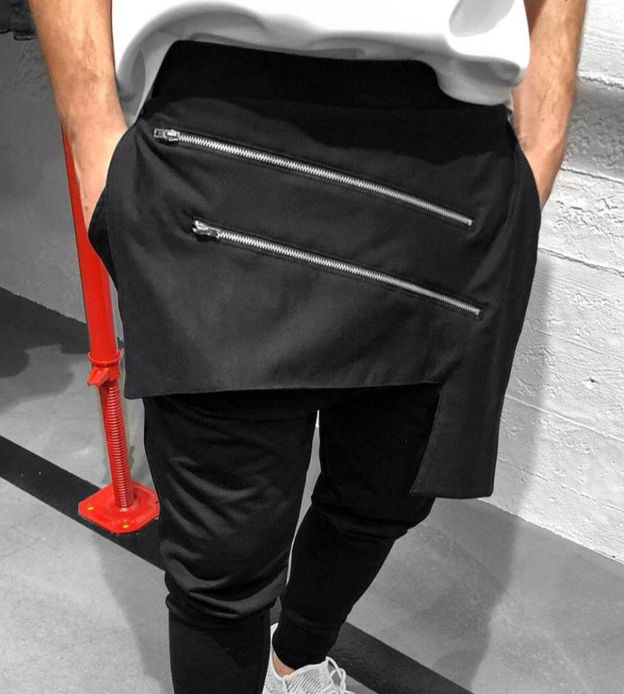 Παντελόνι φόρμα zips με λάστιχο K8001