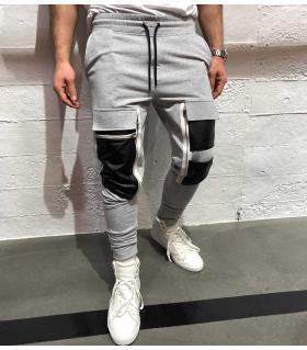 Παντελόνι φόρμα zips & pockets K8002
