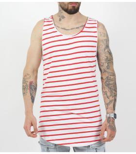 Αμάνικο ανδρικό Tshirt ριγέ K896