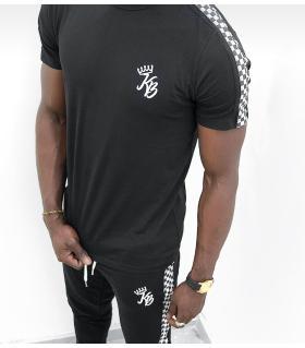 T-shirt ανδρικό chess stripe K983