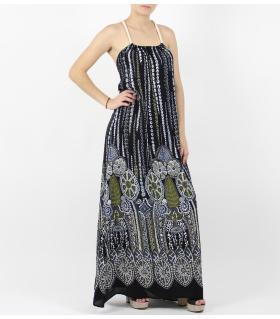 Φόρεμα εξώπλατο μακρύ L38545-14