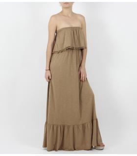 Φόρεμα long straples φλάμα L38783
