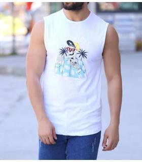 Αμάνικο ανδρικό Tshirt -Good Vibes- LE43054