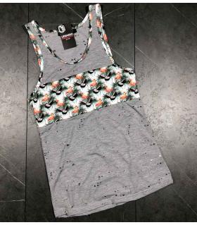 Αμάνικο ανδρικό Tshirt - flamingo - LE4913