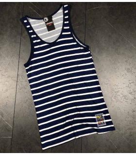Αμάνικο ανδρικό Tshirt ριγέ LE4972