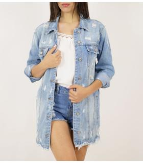 Long jean jacket γυναικείο ML2681