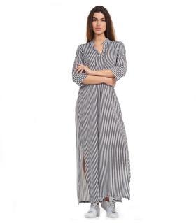 Φόρεμα ριγέ long rayon NewAge NAJ2012