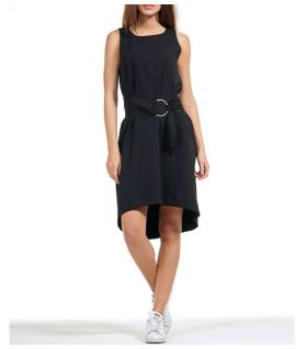Φόρεμα αμάνικο με ζώνη NewAge NAJ2023