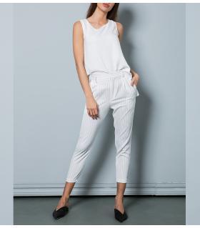 Παντελόνι γυναικείο ριγέ NewAge NAJ3017