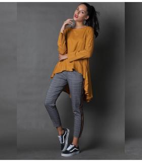 Παντελόνι γυναικείο καρό με λάστιχο NEW AGE NW3000