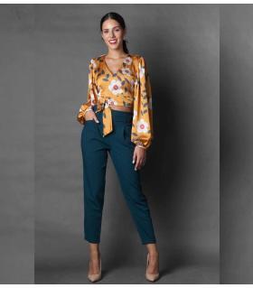 Παντελόνι γυναικείο με πιέτα NEW AGE NW3004