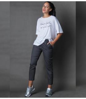 Παντελόνι γυναικείο με πιέτα NEW AGE NW3007