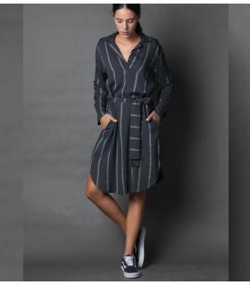 Φόρεμα ριγέ γυναικείο NEW AGE NW4002