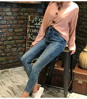 Παντελόνι jean γυναικείο ψιλοκάβαλο ελαστικό ON10073