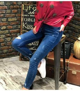 Παντελόνι jean γυναικείο ψιλοκάβαλο ελαστικό slash ON10078