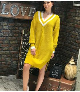 Φόρεμα πλεκτό V-neck ON80211