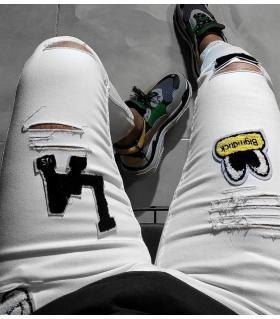 Παντελόνι jean ανδρικό stickers OT5016
