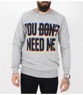 Μπλούζα φούτερ ανδρική  you don't need me PE9524