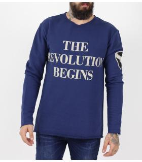 Μπλούζα φούτερ ανδρική Revolution PE9541