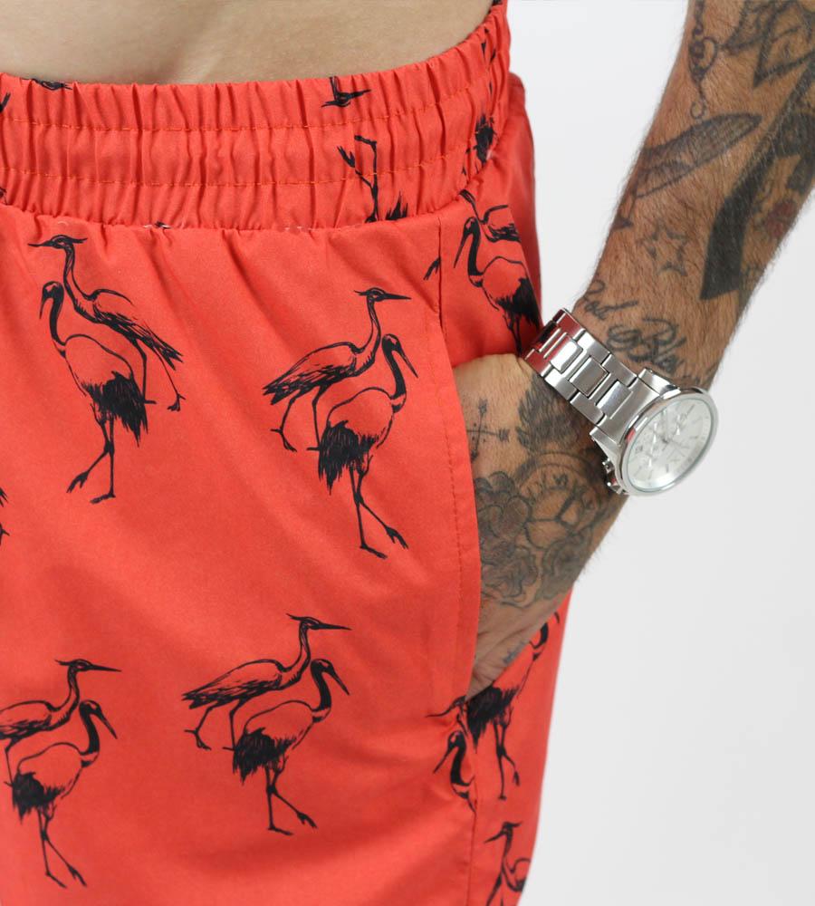 Ανδρικό μαγιό flamingos με τσεπάκι PH7907