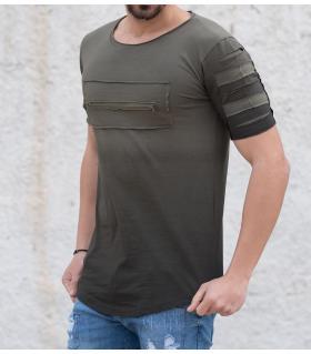 Tshirt ανδρικό zip PV17079