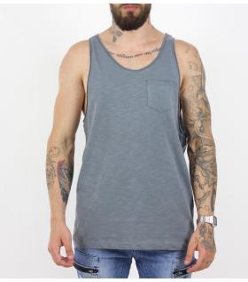 Αμάνικο ανδρικό Tshirt με τσεπάκι PV17125